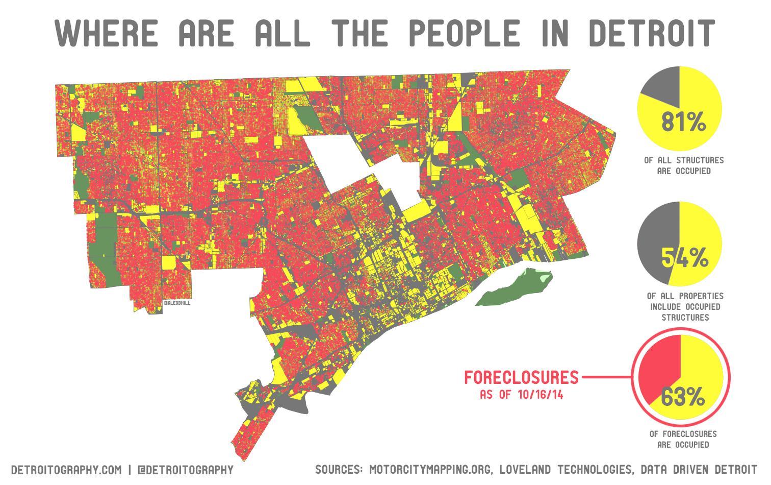 Detroit Densidad De Población Mapa Detroit Mapa De Población - Mapa de michigan
